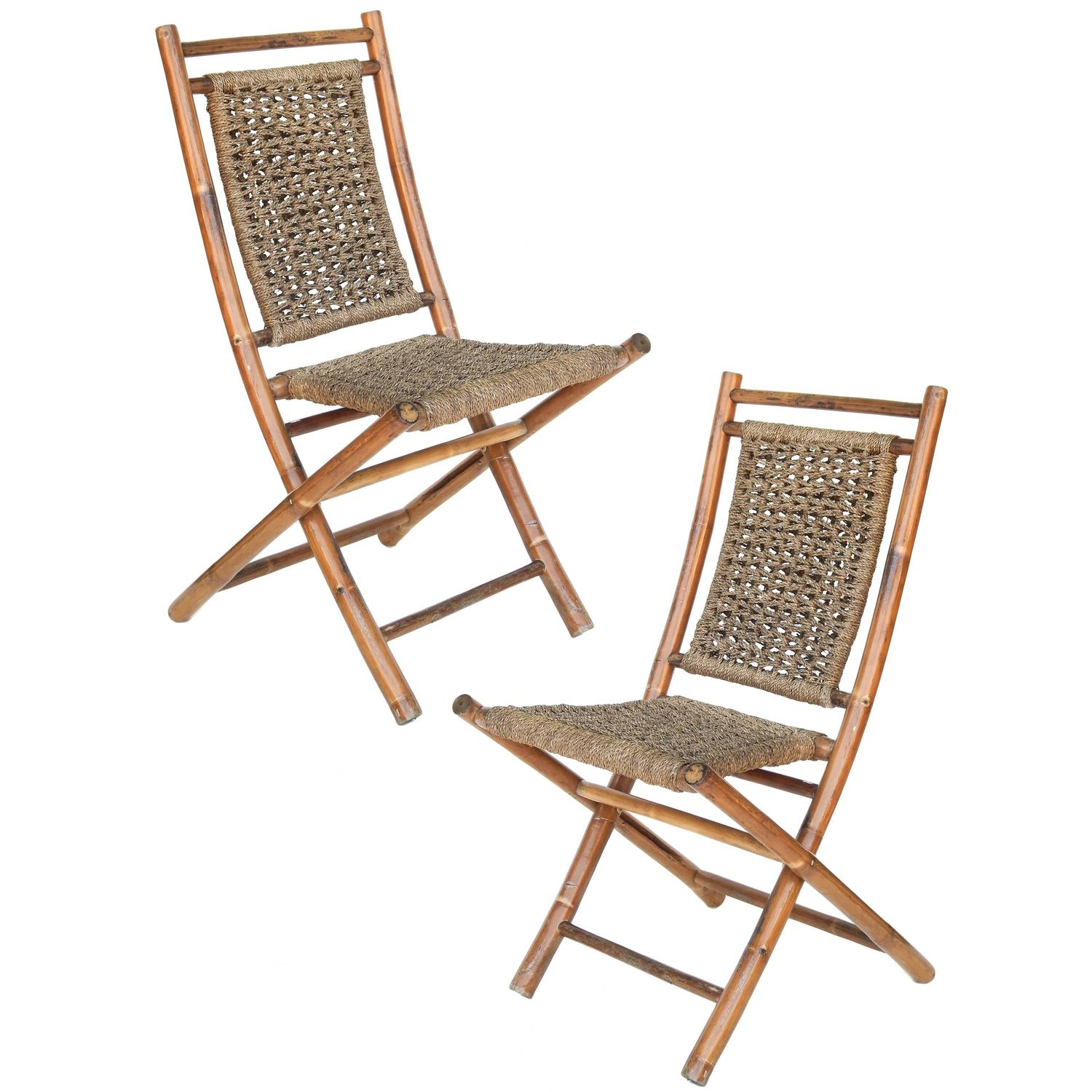 sea grass chairs brown leather executive desk chair folding bamboo and seagrass for sale at 1stdibs