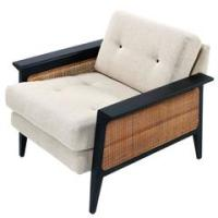 Mid-Century Modern Sofa with Caning For Sale at 1stdibs