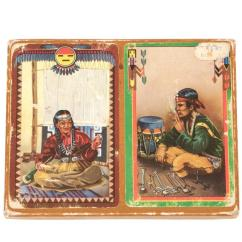 Wicker Chairs For Sale Bedroom Toilet Chair Set Of Vintage Native American Playing Cards, Circa 1920 At 1stdibs