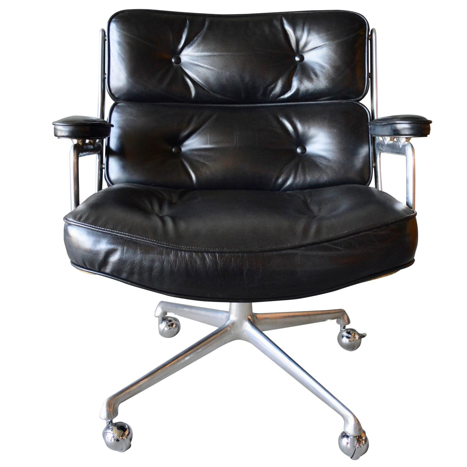 black lifetime chair covers plastic chairs kmart vintage leather eames time life for sale at