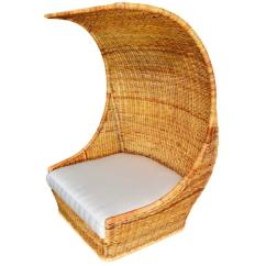 Outdoor Canopy Chair Folding Joints Massive Hooded Rattan Or Loveseat For Sale At 1stdibs
