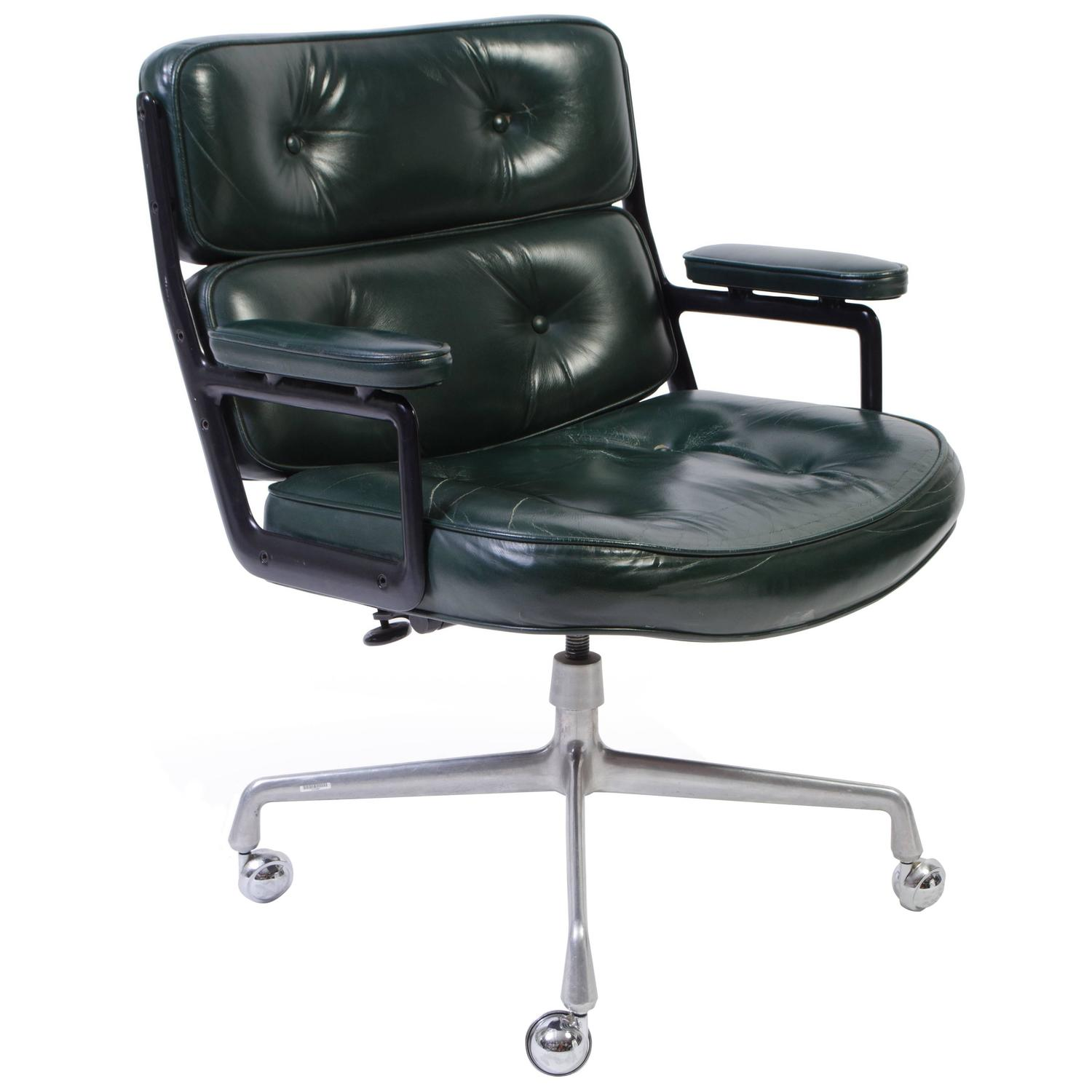 Time Life Chair by Eames for Herman Miller in Green
