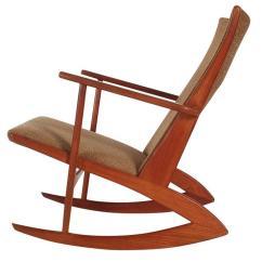 Danish Modern Rocking Chair Green Glider Denmark Chairs 123 For Sale At 1stdibs Georg Jensen Boomerang Kubus In Teak Mid Century