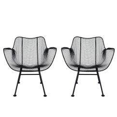 Mid Century Modern Wire Chair Massage Inada Pair Of Sculptural Patio Lounge