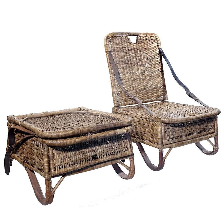 canoe chair for babies pair of folding wicker chairs at 1stdibs sale