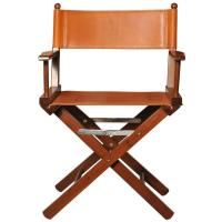Iconic Cognac Leather Director's Chair For Sale at 1stdibs
