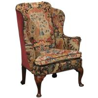 18th Century English Queen Anne Wing Chair in Walnut with ...