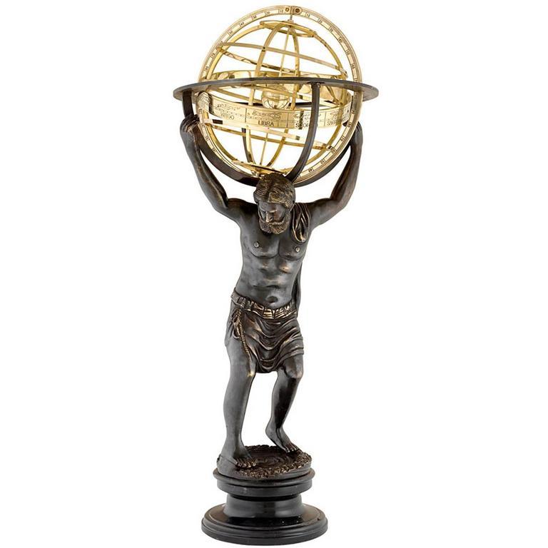 antique bronze sculpture atlas