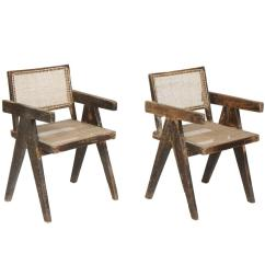 Office Chair For Sale Covers Dining Room Chairs With Rounded Back Pierre Jeanneret Set Of Two Armchairs Called Cane