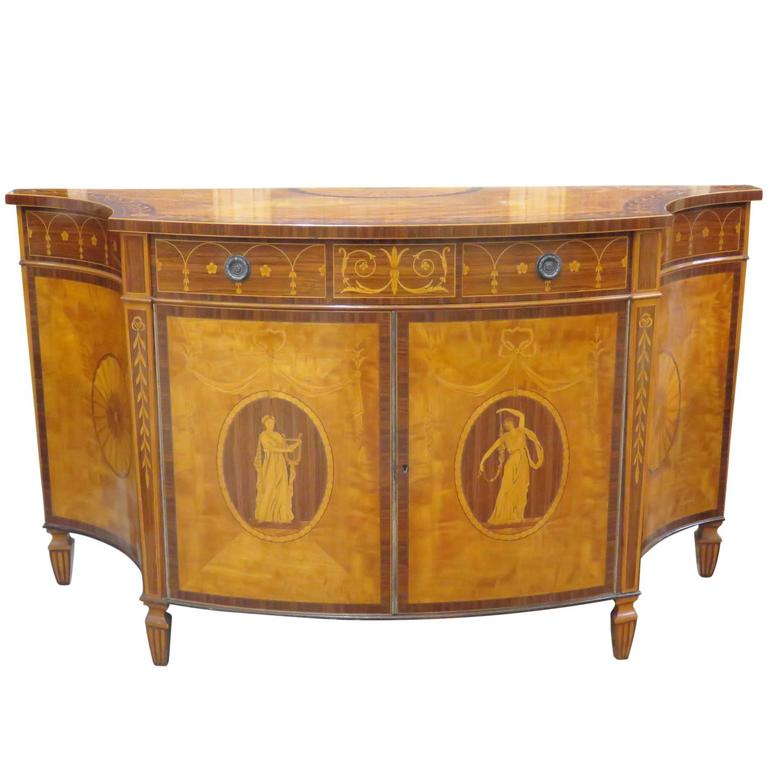 Schmieg And Kotzian Inlaid Demilune Commode For Sale At