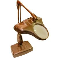 Stunning Vintage Dazor Floating Lamp with Magnifier For