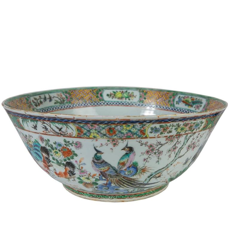 Antique Chinese Porcelain Punch Bowl For Sale At 1stdibs