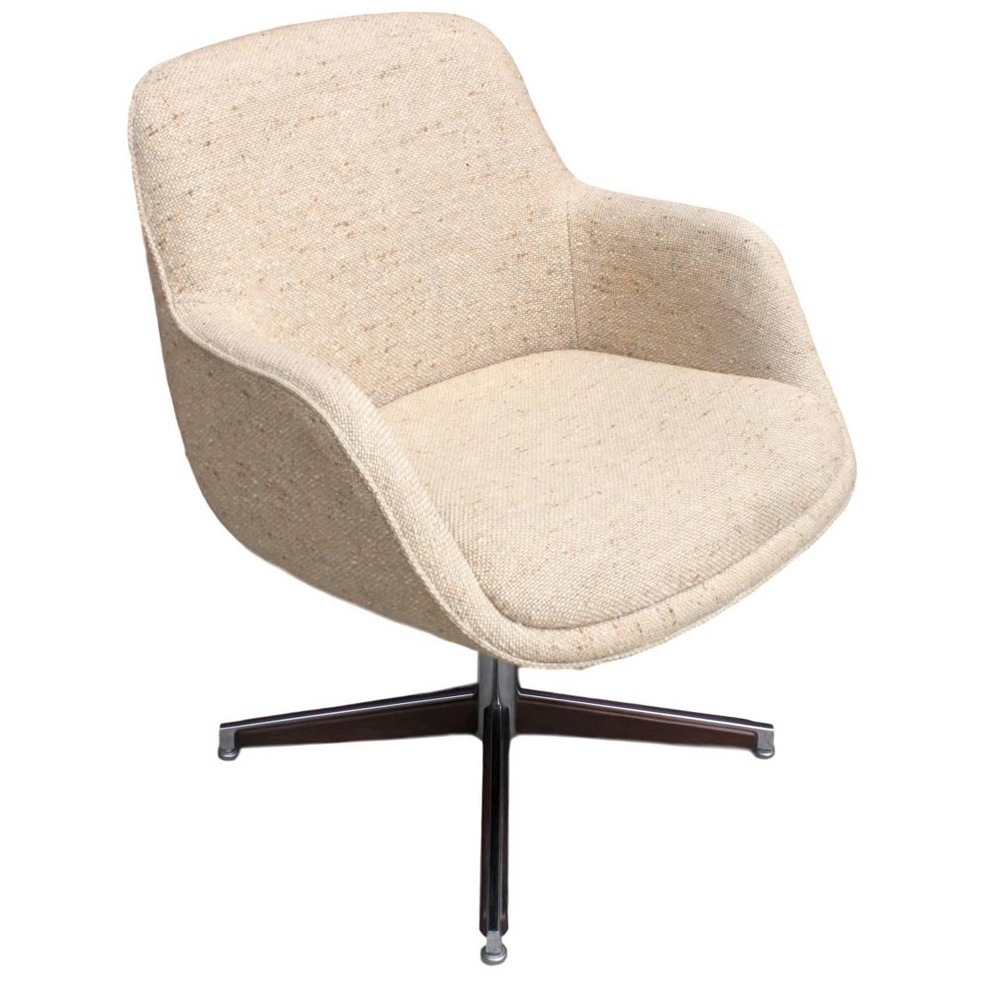 contemporary desk chairs cover for chair 1960s mid century modern walnut and chrome with cream upholstery sale