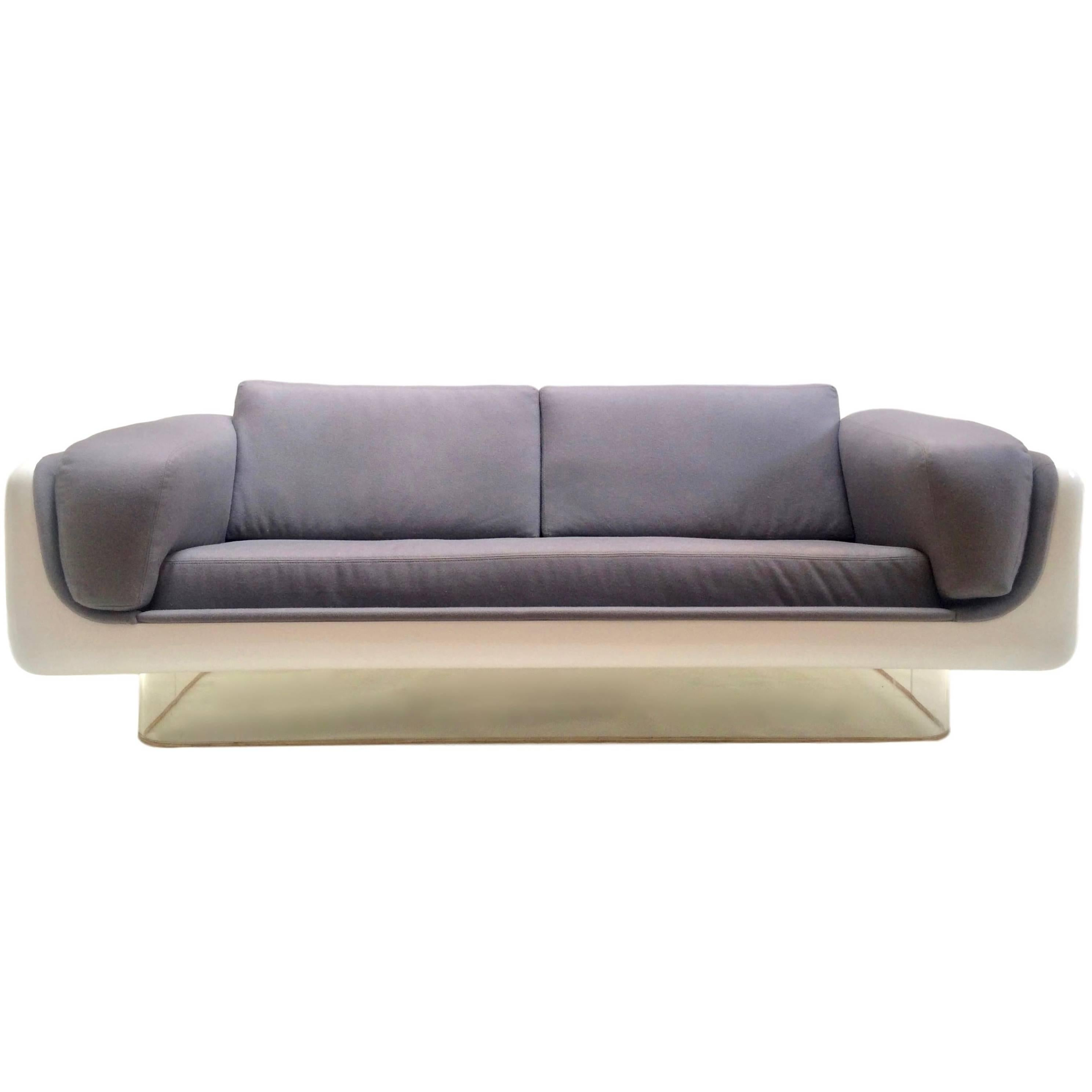 steelcase sofa platner chair bed argos mid century modern warren style fiberglass lucite and by