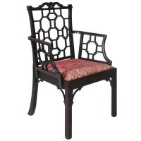 Chinese Chippendale Desk Chair at 1stdibs