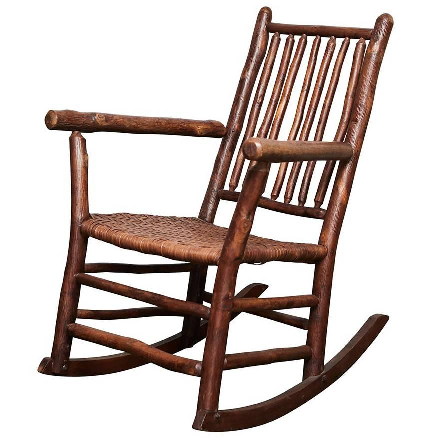 1930s Old Hickory Rocking Chair at 1stdibs