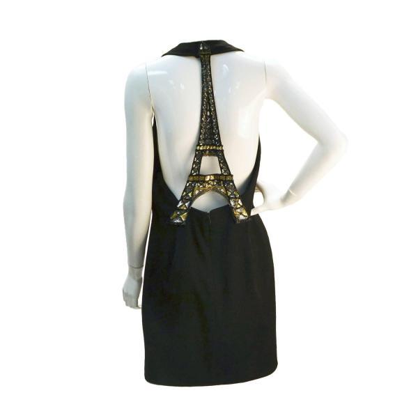 1990s Ungaro Black Wool Eiffel Tower Dress 1stdibs