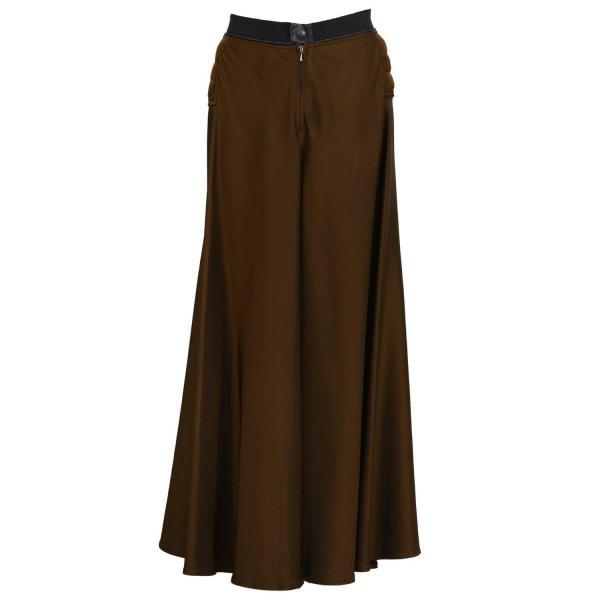 2000' Gaultier Brown Maxi Skirt 1stdibs