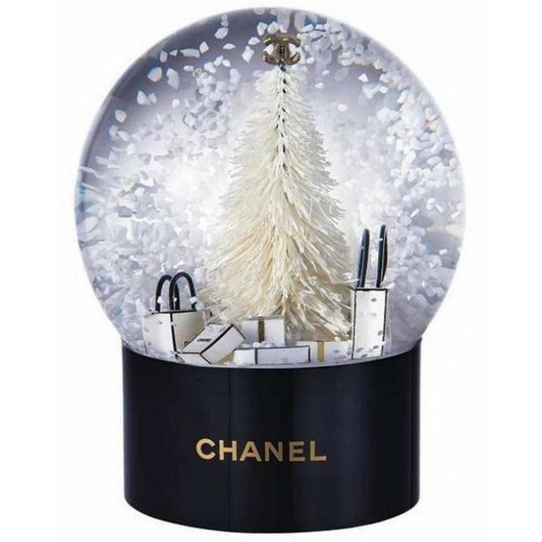 vanity with mirror and chair traditional wingback chanel vip collectible large snow globe new at 1stdibs