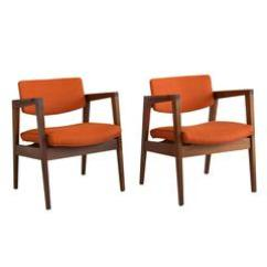 Wh Gunlocke Chair Rocking And Stool Set Of Six W H Sculptural Walnut Armchairs For Sale At 1stdibs