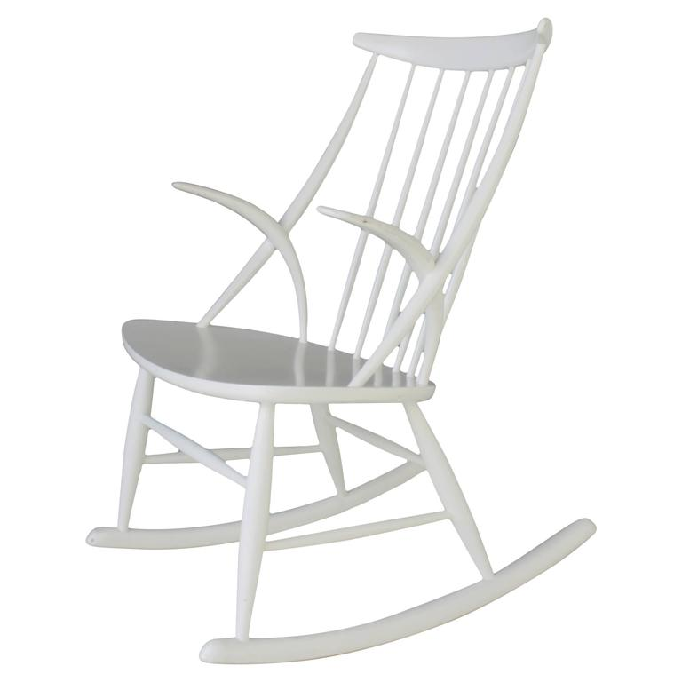 white rocking chairs for sale swing chair bamboo danish by illum wikkelso at 1stdibs