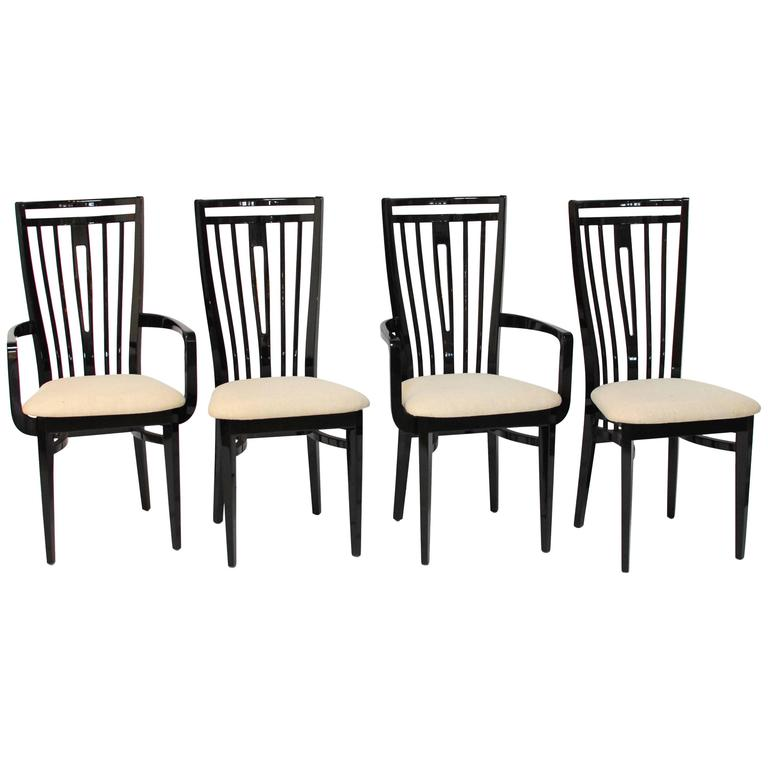 Amazing Italian Black Lacquer Dining Chairs At 1Stdibs Ocoug Best Dining Table And Chair Ideas Images Ocougorg