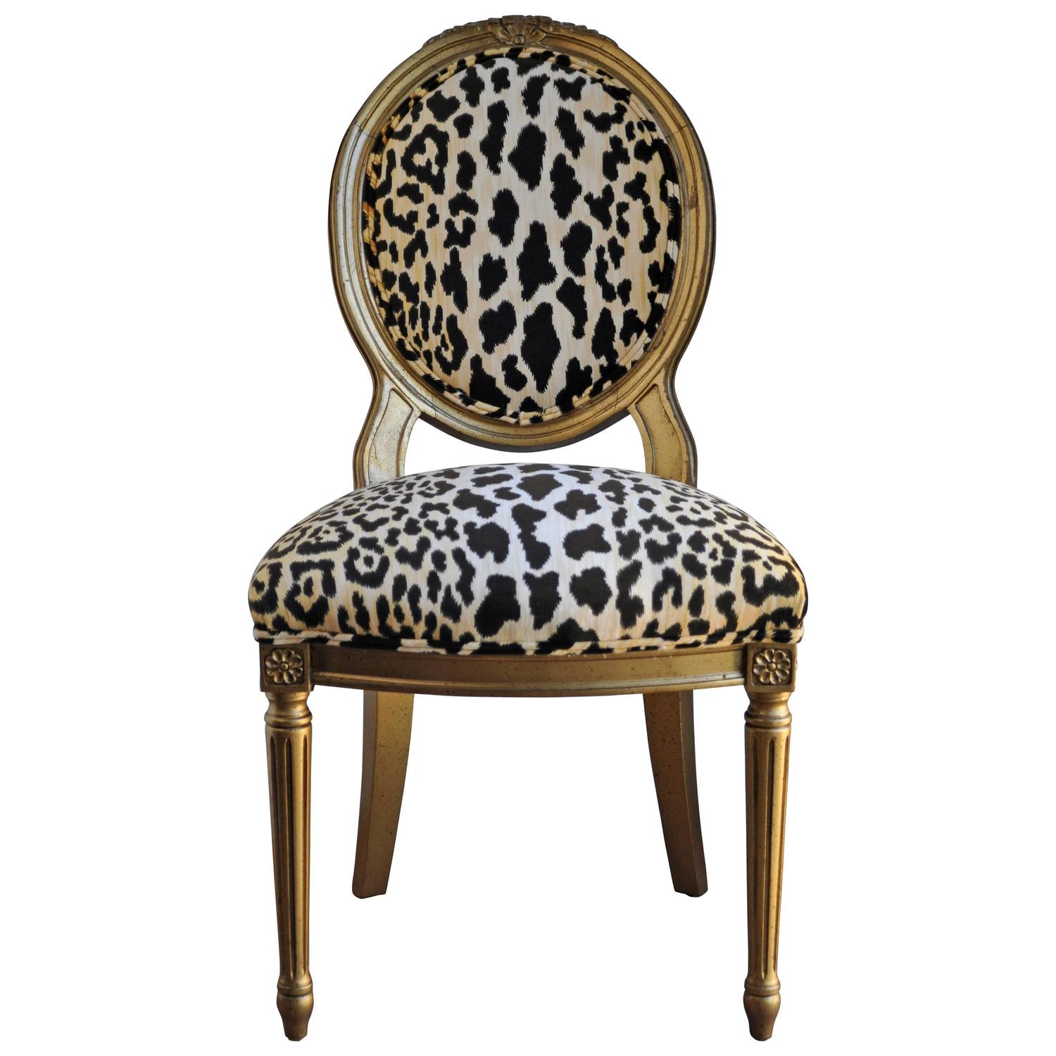 Animal Print Dining Chairs Animal Print Dining Chairs French Louis Xvi Style Accent