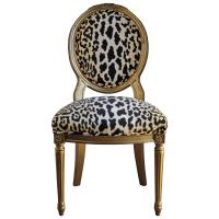 Animal Print Dining Chairs. French Louis XVI Style Accent