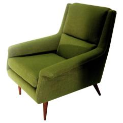 Green Lounge Chair Basket Weave Dining Chairs 1950s Danish Modern Dux Kelly Upholstered