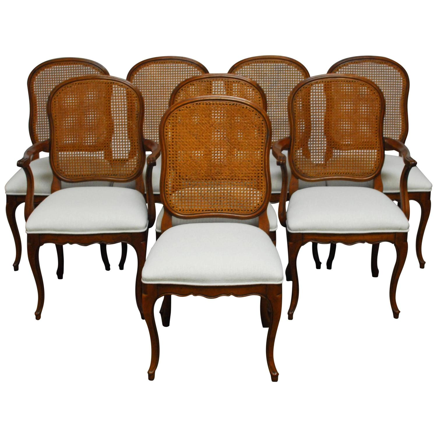 cane dining chairs for sale chair cover hire lowestoft set of eight french louis xv style