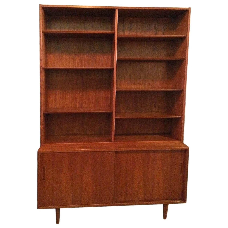 Danish Modern Credenza Bookcase At 1stdibs
