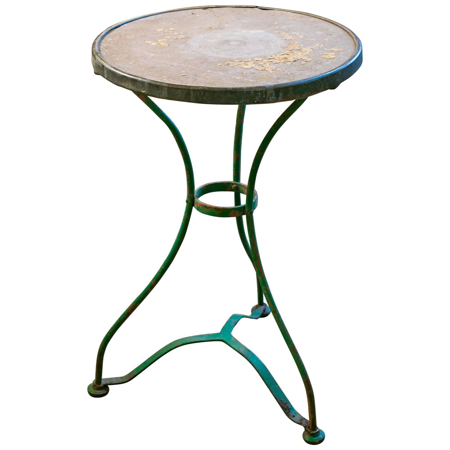 antique french bistro table and chairs childrens desk chair john lewis vintage iron with marble top for sale