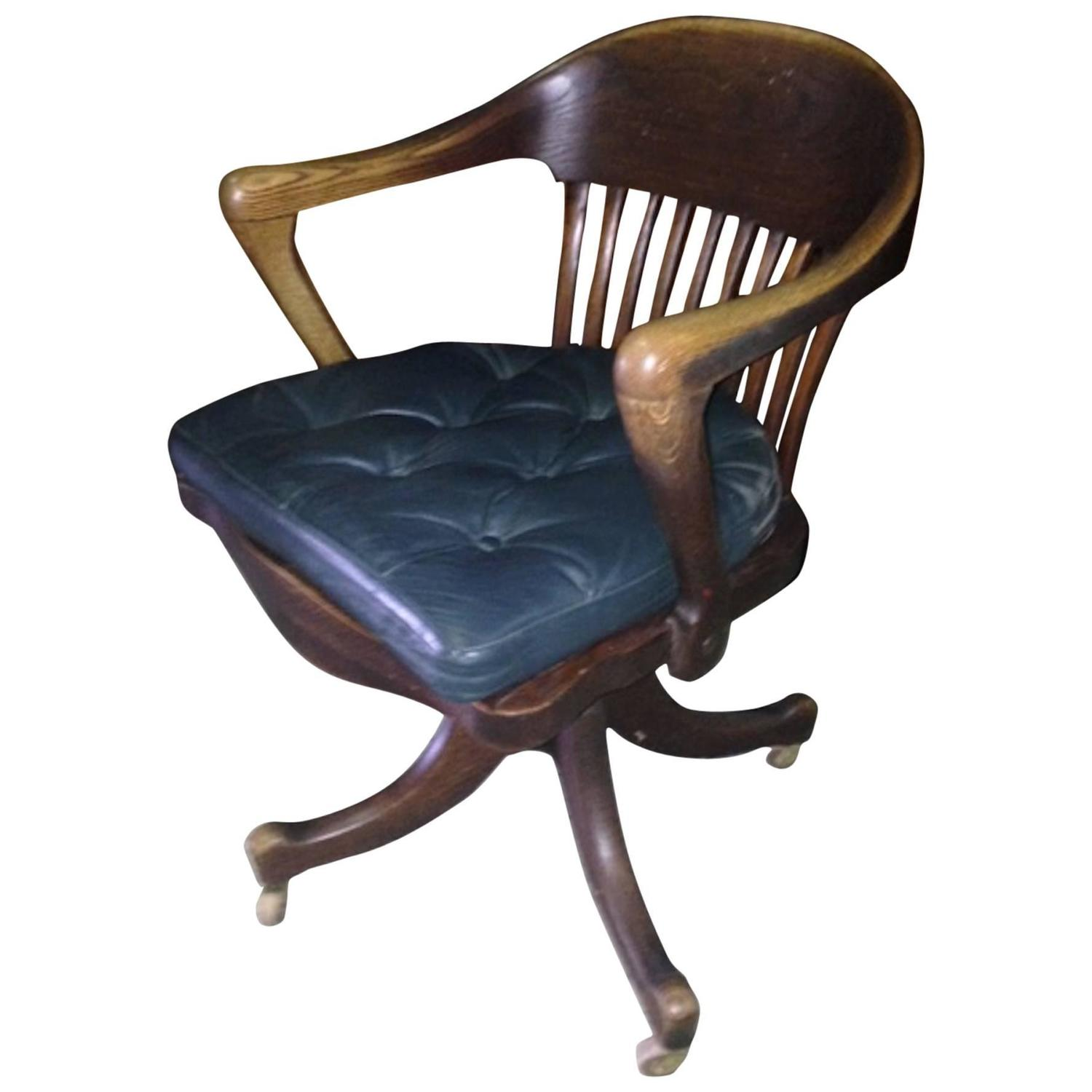 desk chair for sale wing slip covers 19th century american oak from railroad station
