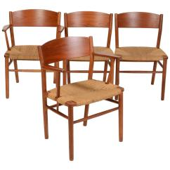 Seagrass Dining Chairs Antique School For Sale Set Of Four Børge Mogensen