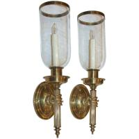 Large Hand Torch Bronze Wall Sconces at 1stdibs