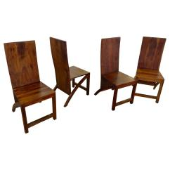 Wood Chairs For Sale Adirondack Weatherproof Set Of Four Sculptural Exotic Handmade