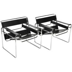Marcel Breuer Chair Poang Covers Ikea Pair Of Early Wassily Chairs By Knoll For