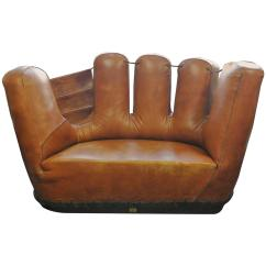 Baseball Glove Chair Home Goods 30 Sec Stand Norms Stiles Brothers Leather Sofa At 1stdibs