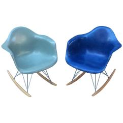 Blue Green Chair Swivel Seafoam And Royal Herman Miller Eames Rar