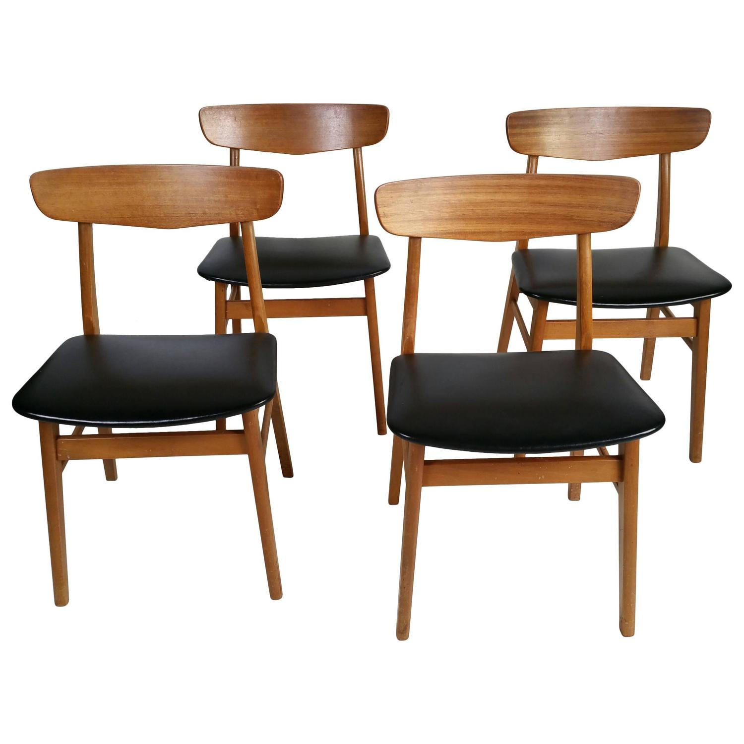 danish dining chair accent chairs uk set of four modern at 1stdibs