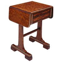 Small English Regency Work Table For Sale at 1stdibs