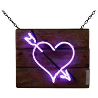 Purple Heart with Arrow on Salvaged Wood at 1stdibs