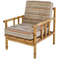 Mid-Century Bamboo Club Chair For Sale at 1stdibs