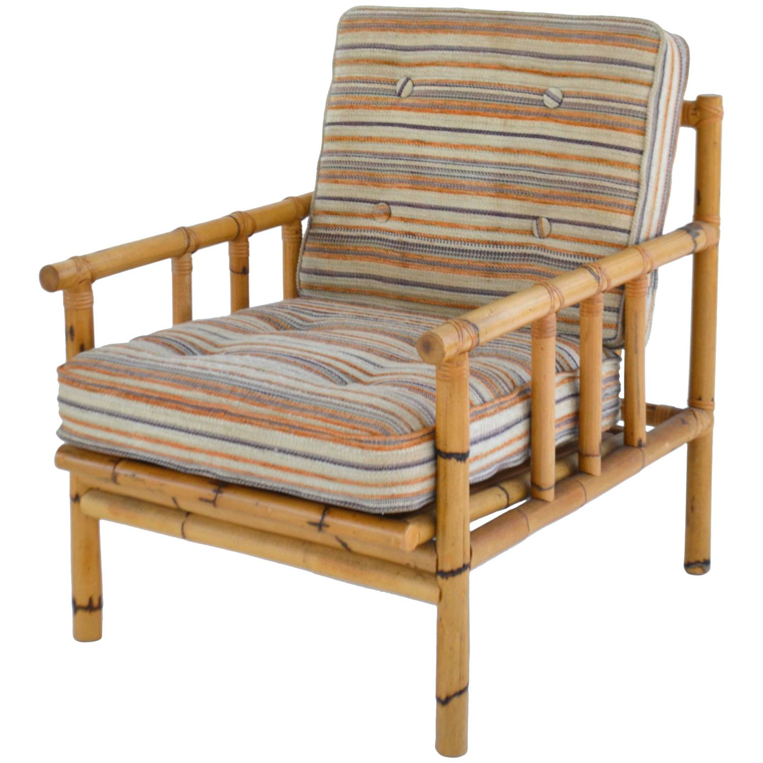 Midcentury Chairs Mid Century Bamboo Club Chair For Sale At 1stdibs