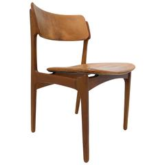 erik buck chairs fancy office suppliers eight designed by black leather and oak o d teak chair