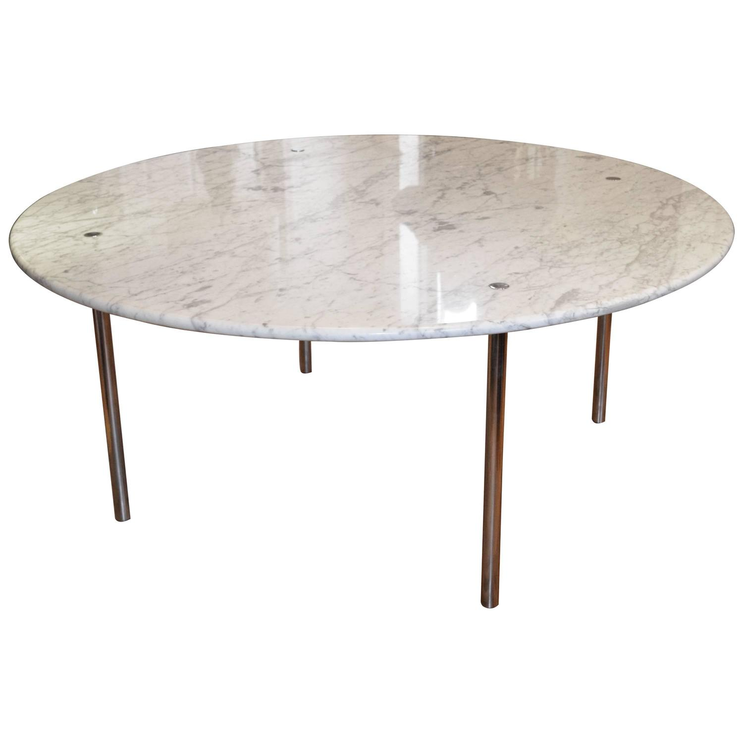 round marble table and chairs rattan furniture 2 monumental dining by katavolos littell