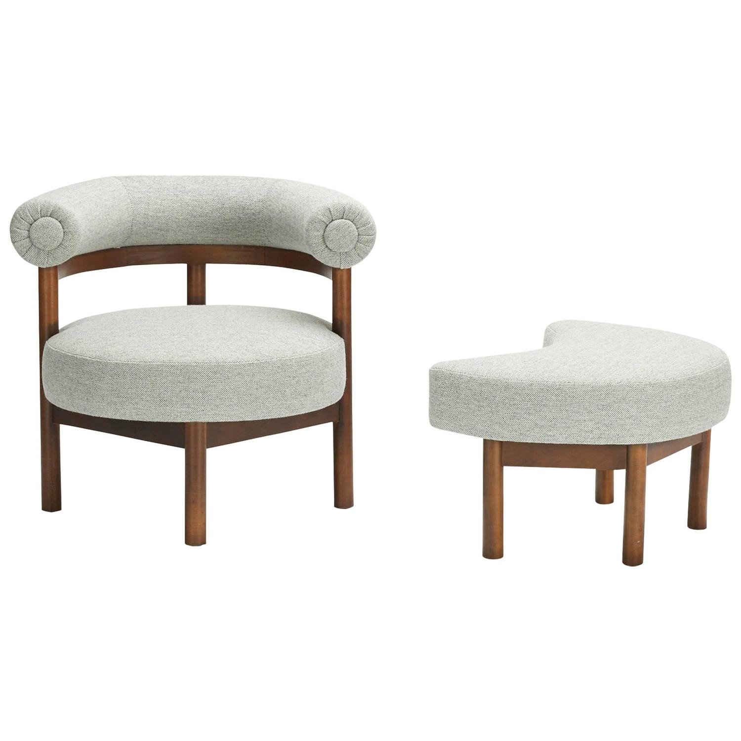 modern lounge chair and ottoman set big lots patio chairs at 1stdibs