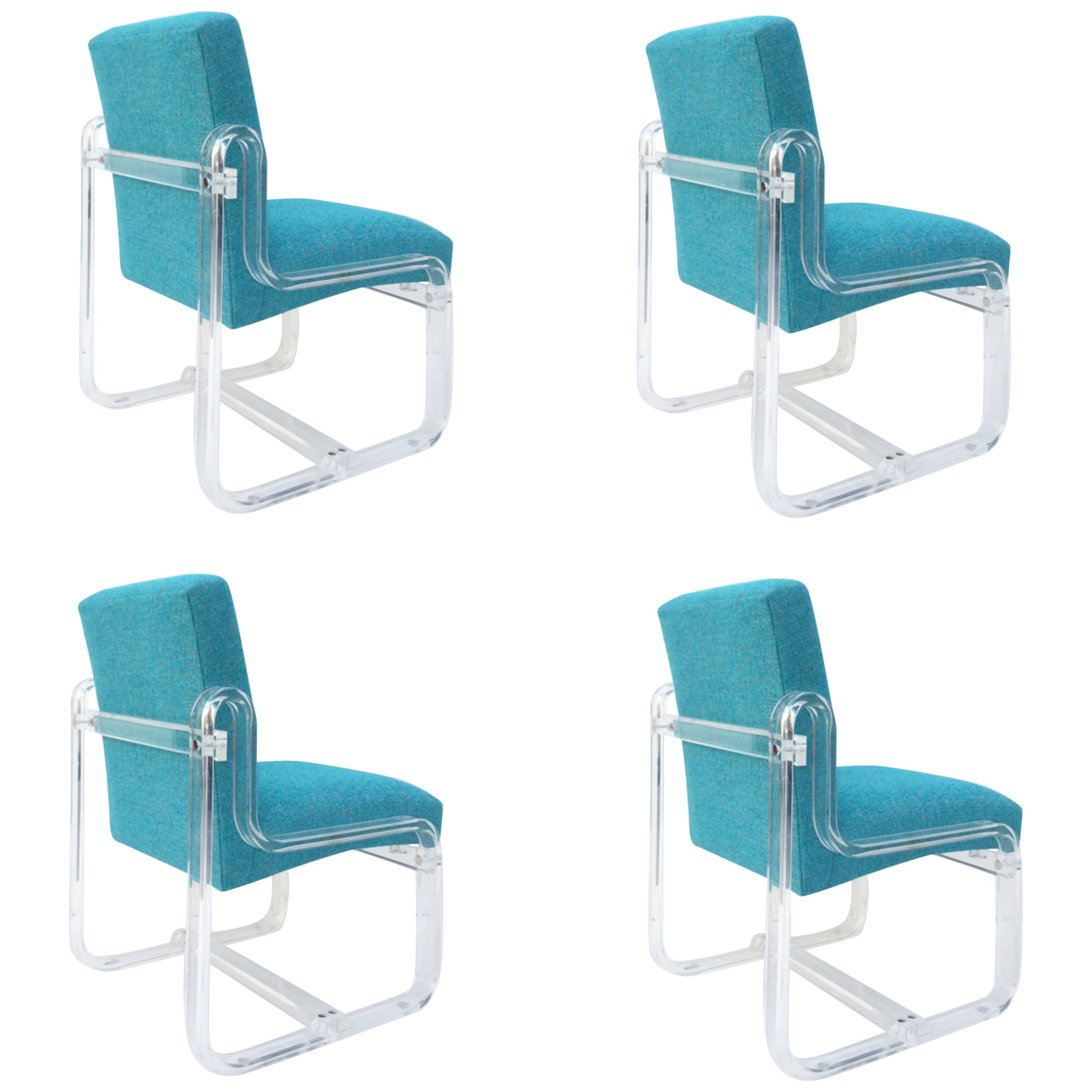 Aqua Dining Chairs Set Of Four Acrylic Dining Chairs By Vivid