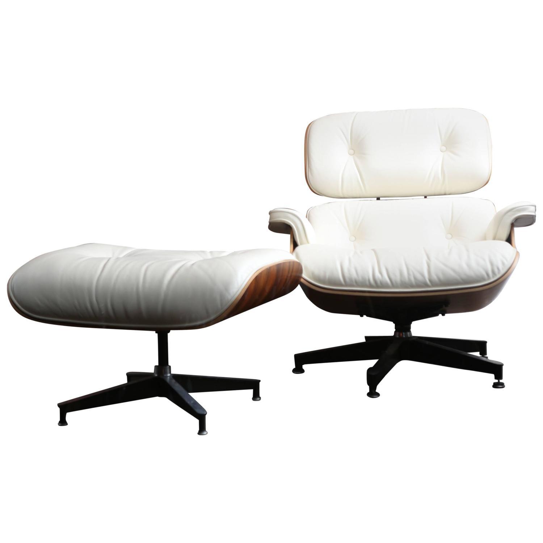 eames lounge chair used plush ladybug rocking and ottoman at 1stdibs