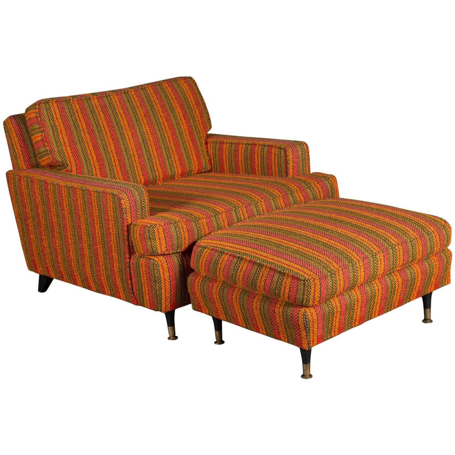 chairs and ottomans upholstered folding chair covers spandex unique 1950s modern lounge ottoman